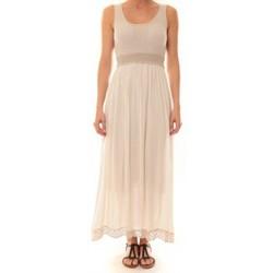 Textiel Dames Lange jurken La Vitrine De La Mode Robe Z1392 By La Vitrine Beige Beige
