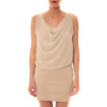 Textiel Dames Korte jurken La Vitrine De La Mode Robe 157 By La Vitrine Beige Beige