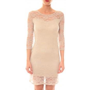 Textiel Dames Korte jurken La Vitrine De La Mode Robe 158 By La Vitrine Taupe Bruin