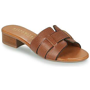 Schoenen Dames Leren slippers Hispanitas LOLA Bruin
