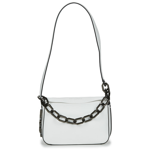 Tassen Dames Handtassen lang hengsel Karl Lagerfeld K/LETTERS SM SHOULDERBAG Wit