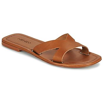 Schoenen Dames Leren slippers Kenzo OPANKA Cognac