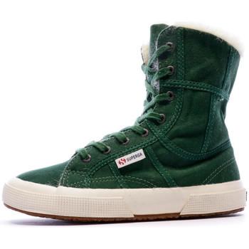 Schoenen Dames Enkellaarzen Superga  Groen