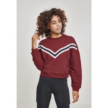 Textiel Dames Sweaters / Sweatshirts Urban Classics T-shirt femme Urban Classic inet Striped crew rouge