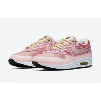 Schoenen Lage sneakers Nike Air Max 1 Powerwall Strawberry Atmosphere/Atmosphere-True White