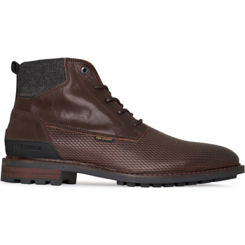 Schoenen Dames Laarzen Pme Legend Huffster Dark Brown Bruin