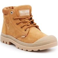 Schoenen Dames Hoge sneakers Palladium Pampa LO Cuff LEA 95561-717-M brown