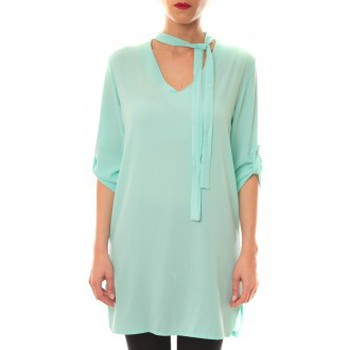 Textiel Dames Korte jurken La Vitrine De La Mode Robe 156 By La Vitrine Aqua Blauw