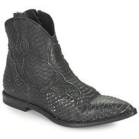 Schoenen Dames Laarzen Mimmu PYTHON INTAG Zwart