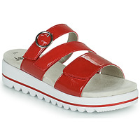 Schoenen Dames Leren slippers Jana JANITA Rood