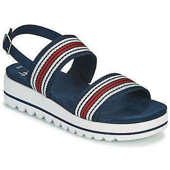 Schoenen Dames Sandalen / Open schoenen Jana STROMAELA Marine / Rood / Wit