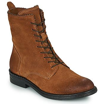 Schoenen Dames Laarzen Mjus PAL LACE Camel
