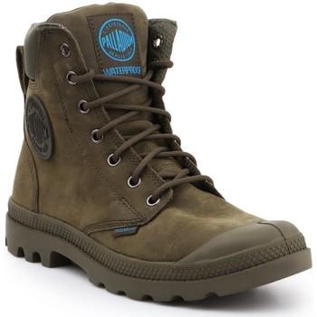 Schoenen Hoge sneakers Palladium Pampa Cuff WP LUX 73231309 olive green