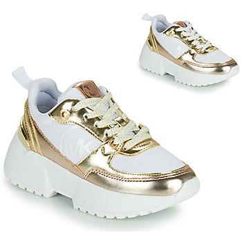 Schoenen Meisjes Lage sneakers MICHAEL Michael Kors COSMO SPORT Wit / Goud