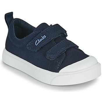 Schoenen Kinderen Lage sneakers Clarks CITY BRIGHT T Marine