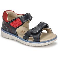 Schoenen Jongens Sandalen / Open schoenen Clarks ROAM SURF K Marine / Rood