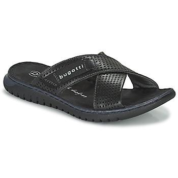 Schoenen Heren slippers Bugatti IDAHO Zwart