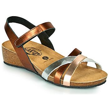 Schoenen Dames Sandalen / Open schoenen Plakton NOTE Koper / Roze / Zilver