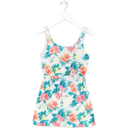 Textiel Meisjes Korte jurken Losan 714 7041AB Wit
