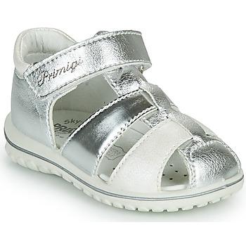 Schoenen Meisjes Sandalen / Open schoenen Primigi GABBY Zilver / Wit