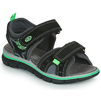 Schoenen Jongens Sandalen / Open schoenen Primigi NOIRA Zwart / Groen