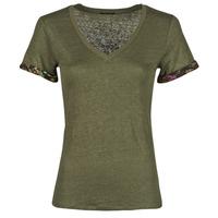 Textiel Dames T-shirts korte mouwen Ikks BS10255-56 Kaki