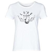 Textiel Dames T-shirts korte mouwen Ikks BS10185-11 Ecru