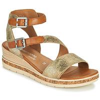 Schoenen Dames Sandalen / Open schoenen Remonte Dorndorf BALANCE Goud / Bruin