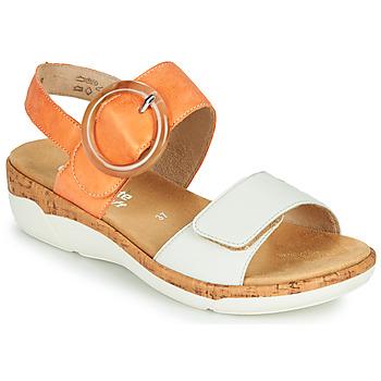 Schoenen Dames Sandalen / Open schoenen Remonte Dorndorf ORAN Oranje / Wit