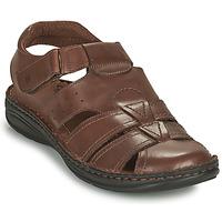 Schoenen Heren Sandalen / Open schoenen Casual Attitude ODOUNE Bruin