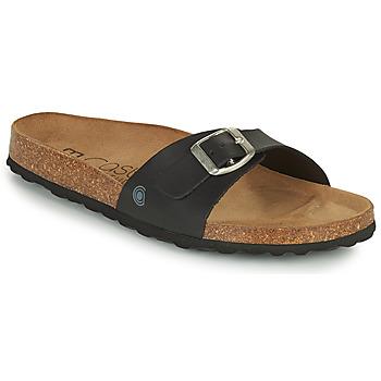 Schoenen Dames Leren slippers Casual Attitude OVOA Zwart