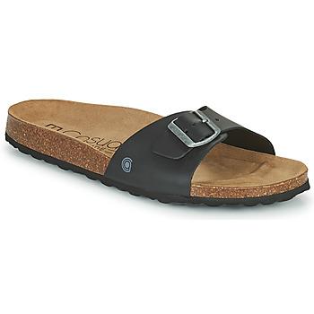 Schoenen Heren Leren slippers Casual Attitude OMIU Zwart
