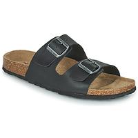 Schoenen Heren Leren slippers Casual Attitude OMAO Zwart