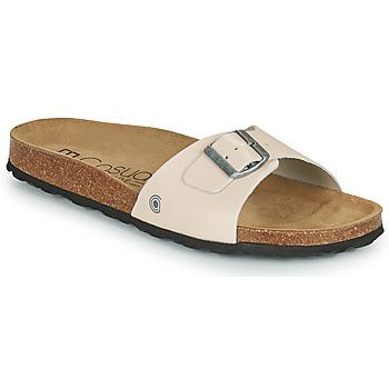 Schoenen Heren Leren slippers Casual Attitude OMIU Taupe