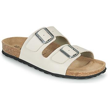 Schoenen Heren Leren slippers Casual Attitude OMAO Taupe