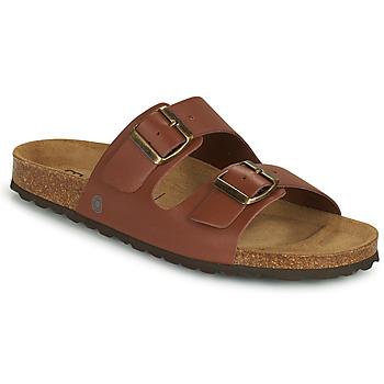 Schoenen Heren Leren slippers Casual Attitude OMAO Bruin