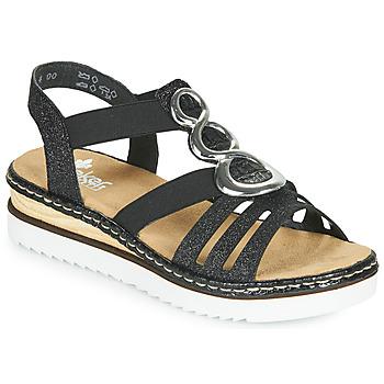 Schoenen Dames Sandalen / Open schoenen Rieker FANNI Blauw
