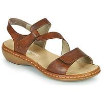 Schoenen Dames Sandalen / Open schoenen Rieker ZAZIE Bruin