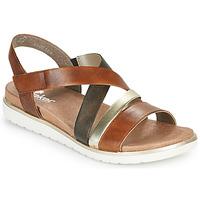 Schoenen Dames Sandalen / Open schoenen Rieker MARRO Bruin / Zilver
