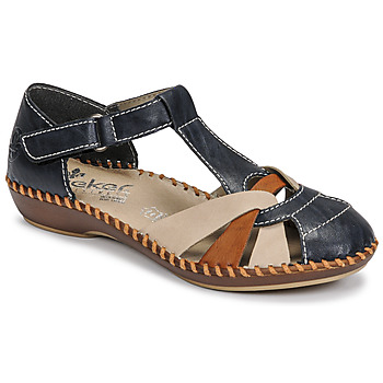 Schoenen Dames Sandalen / Open schoenen Rieker BLUE Blauw / Bruin