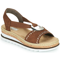 Schoenen Dames Sandalen / Open schoenen Rieker FARRO Bruin