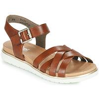Schoenen Dames Sandalen / Open schoenen Rieker NORRA Bruin
