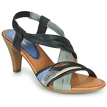 Schoenen Dames Sandalen / Open schoenen Betty London POULOI Zwart / Grijs