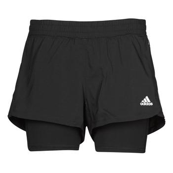Textiel Dames Korte broeken / Bermuda's adidas Performance PACER 3S 2 IN 1 Zwart