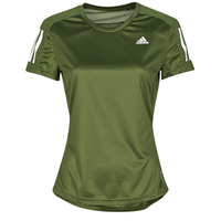 Textiel Dames T-shirts korte mouwen adidas Performance OWN THE RUN TEE Groen
