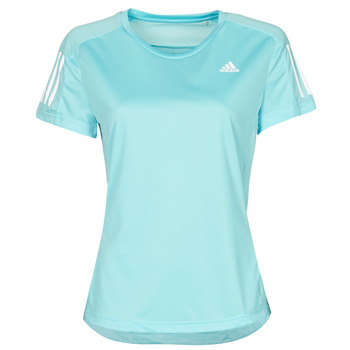 Textiel Dames T-shirts korte mouwen adidas Performance OWN THE RUN TEE Blauw