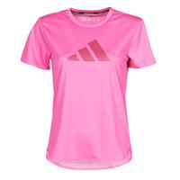Textiel Dames T-shirts korte mouwen adidas Performance BOS LOGO TEE Roze