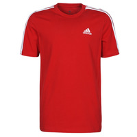 Textiel Heren T-shirts korte mouwen adidas Performance M 3S SJ T Rood