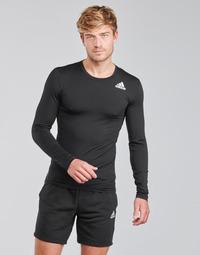 Textiel Heren T-shirts met lange mouwen adidas Performance TF LS Zwart