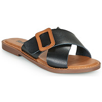 Schoenen Dames Leren slippers Refresh TRAFFA Zwart